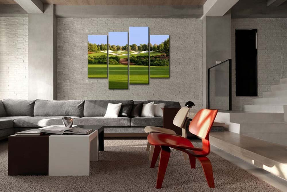 Wall Art Painting Jumeirah Golf Estates Trees Lawn Prints On Canvas Drop shipping - 副本