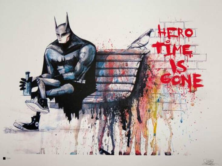 Banksy Hero Time is Gone HD Canvas Print Wall Art Painting Dropshipping