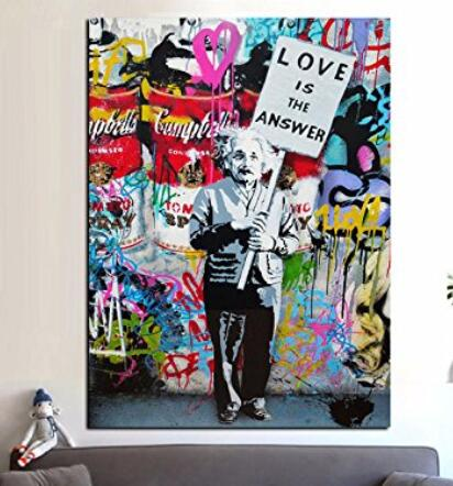 Banksy Love Is The Answer Canvas Painting Home Decor Dropshipping