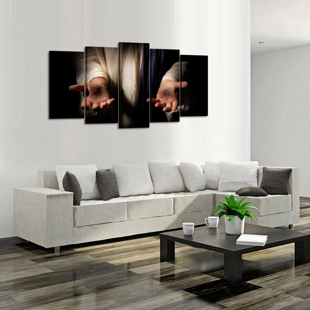 Jesus Hands Resurrected Canvas Prints Wall Art 5 Pieces Poster Dropshipping