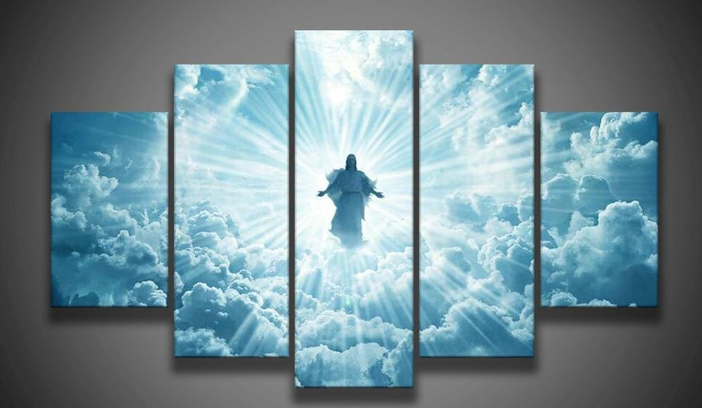 wall art print Jesus is coming painting 5 piece Canvas Art Print Painting Dropshipping