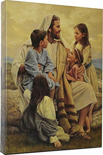 Giclee Canvas Wrap Picture of Jesus with Children Del Parson Wall Art Print Painting Dropshipping