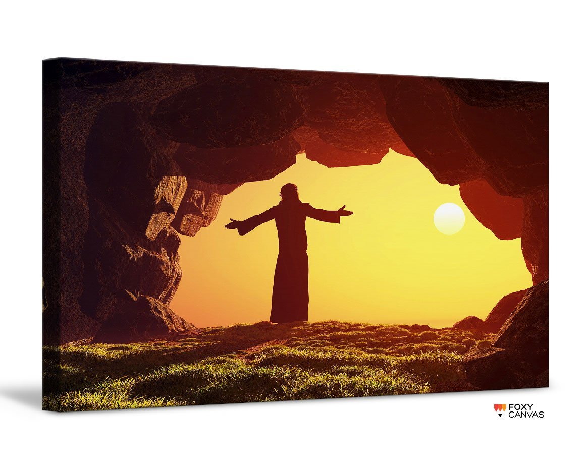 Jesus Christ Welcomes You to Heaven Giclee Canvas Print Wall Art for Home and Office Decor Dropshipping