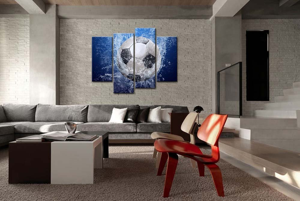 Wall Art Painting Soccer In Water Pictures Prints On Canvas Drop shipping