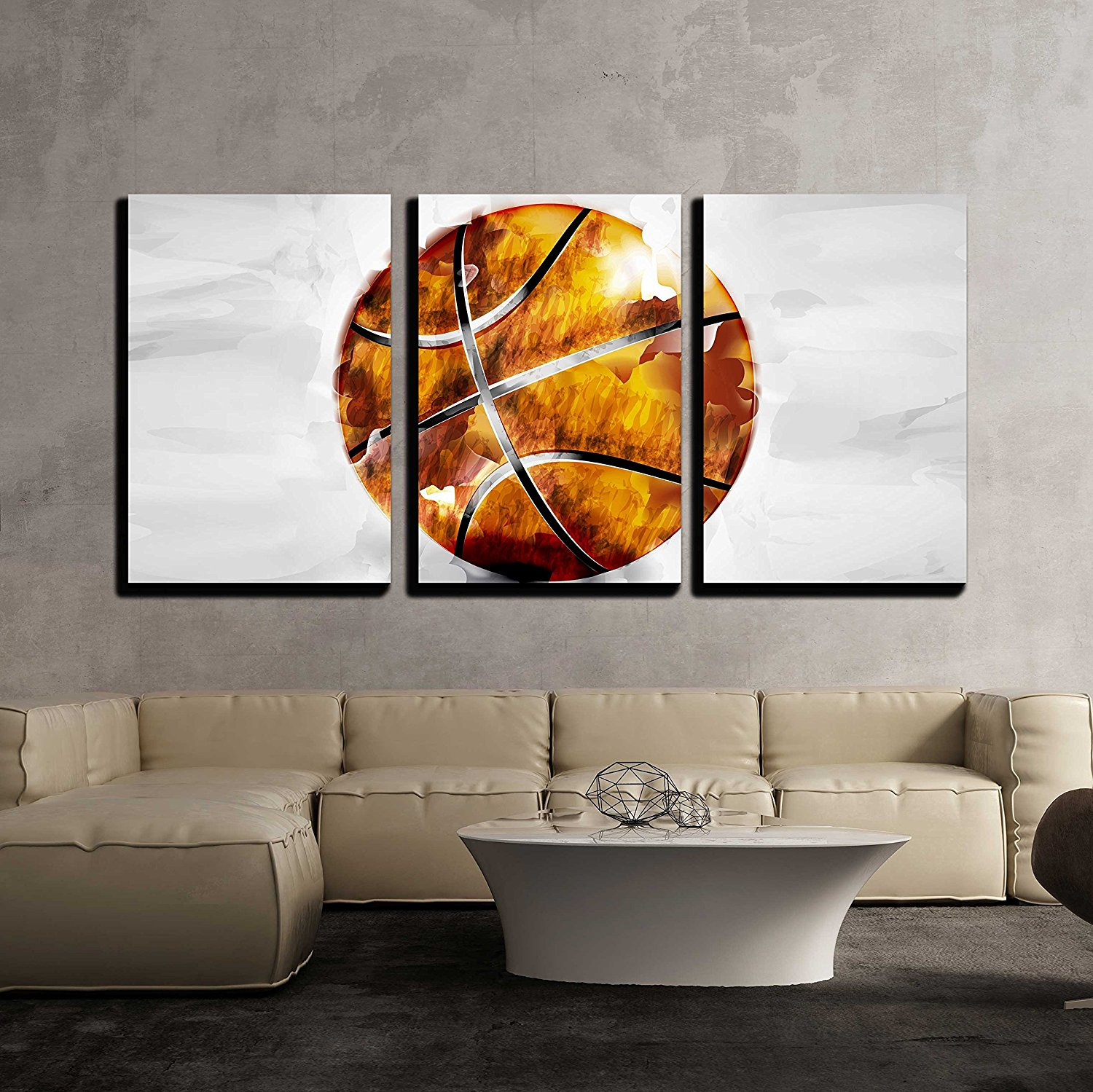 Basketball ball in watercolor style  Canvas Wall Art Photo print drop shipping