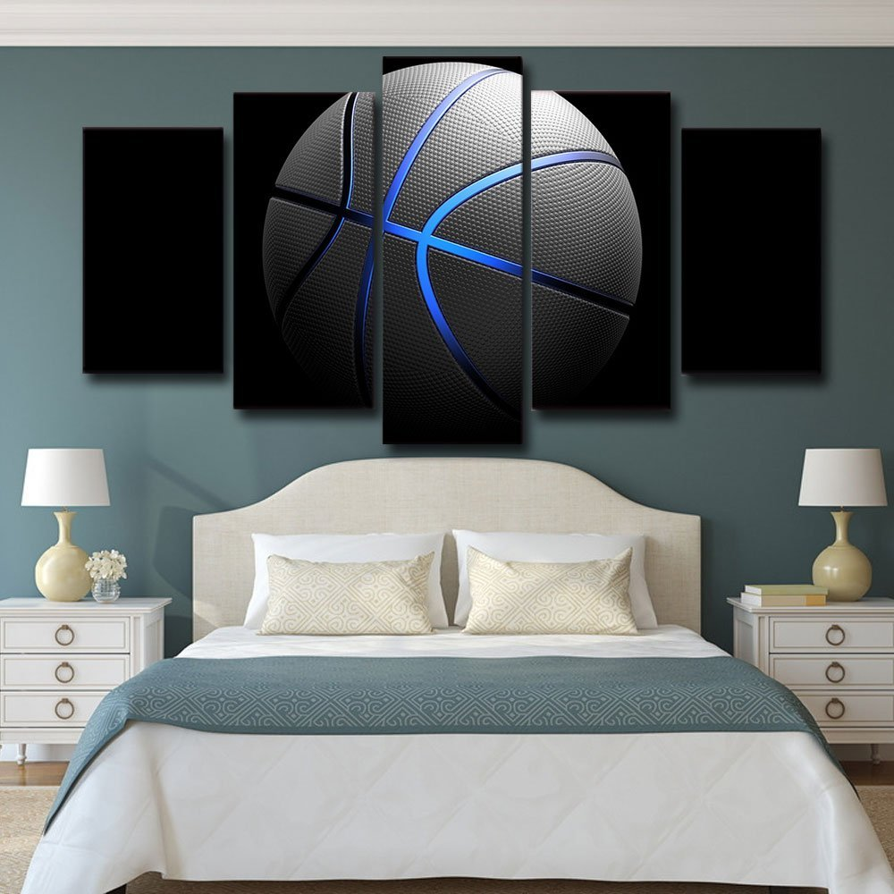 Sports Blue light Basketball Canvas Art Painting Wall Picture Print oil painting Drop shipping