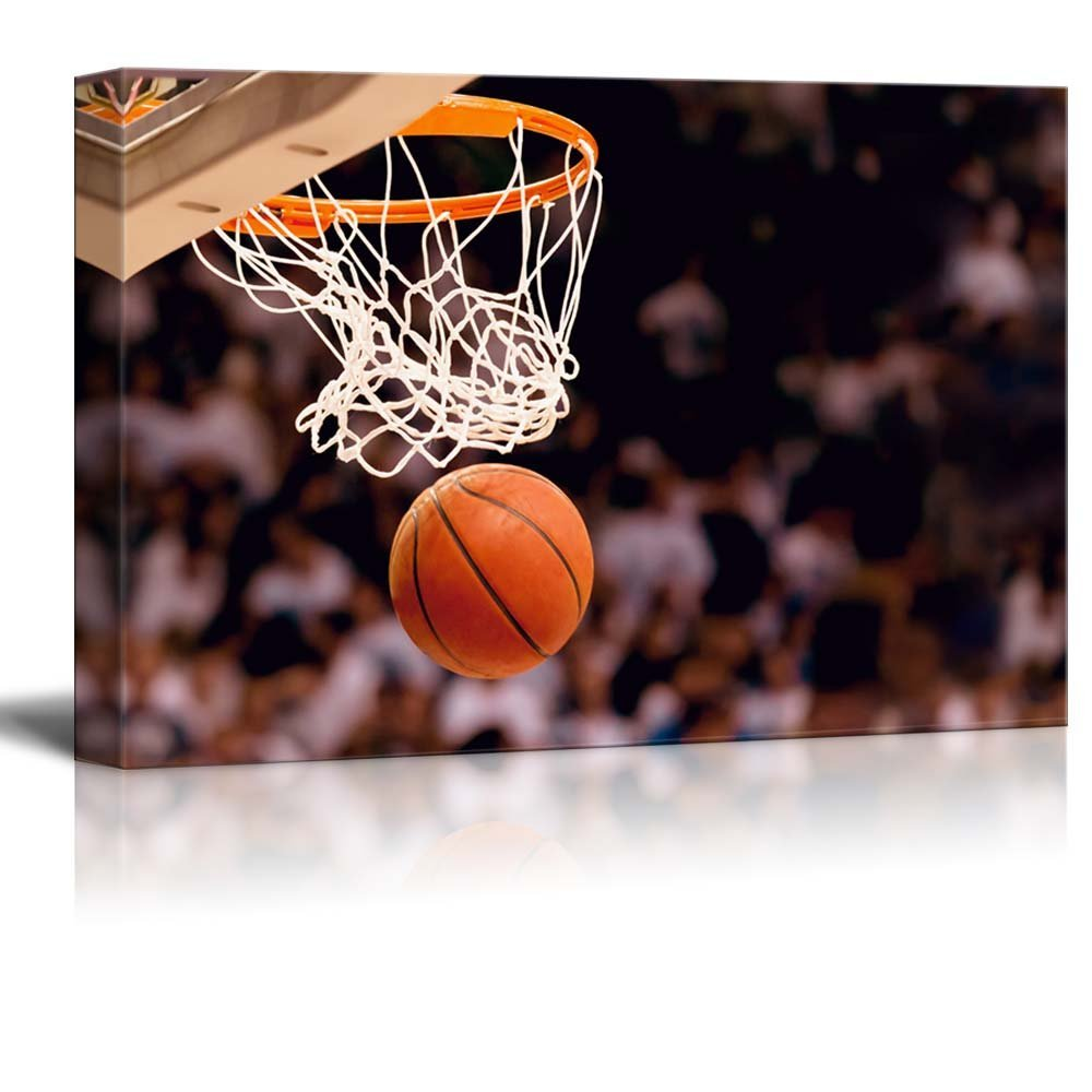 Basketball in arena Canvas Art Home Decor HD printed Wall Decor Drop shipping