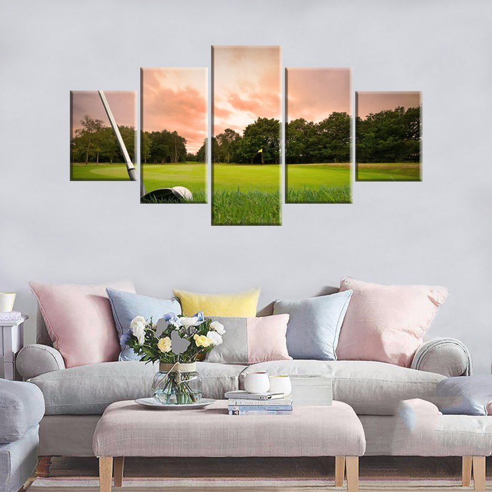 Golf Course Green Law Canvas Paintings Printed Canvas Canvas Wall Art Picture Drop shipping