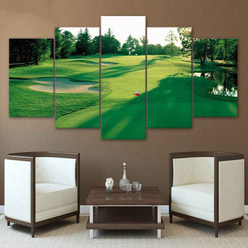 Golf Course Wall Art Canvas Picture Canvas Paintings Printed Poster Drop shipping