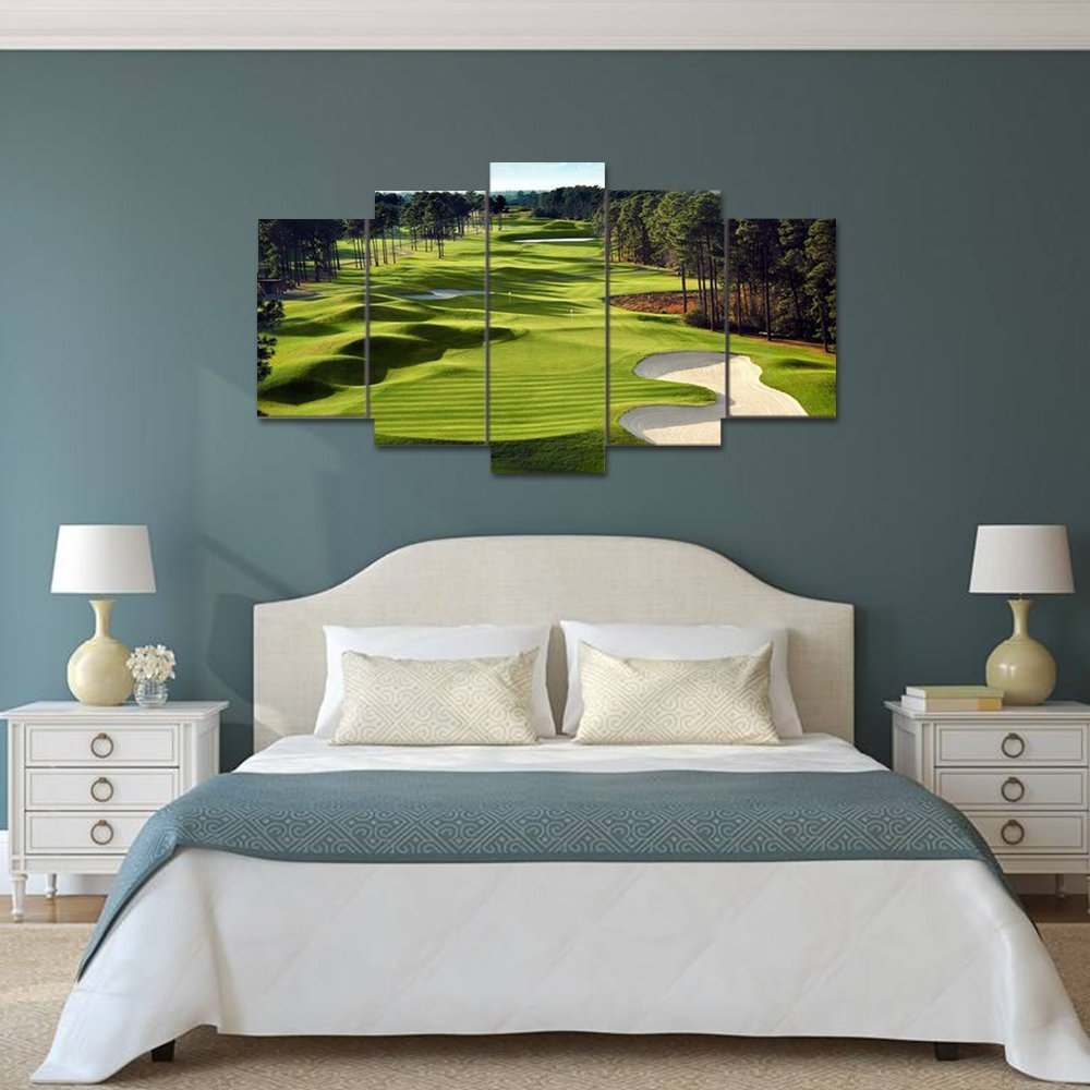 Canvas Prints Green Grass Golf Course Field Wall Art Painting Home Decor Drop shipping