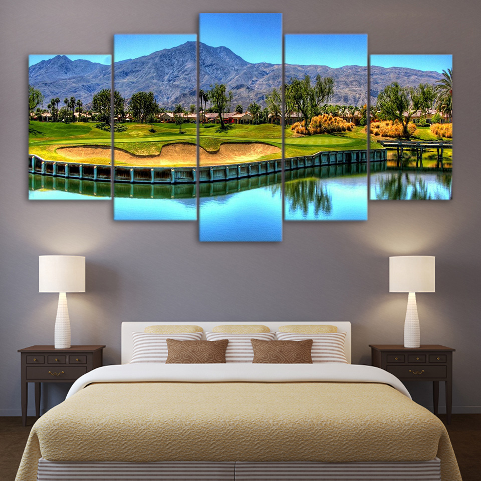 Golf Course Paintings On Canvas Wall Art Printed on Canvas Oil Painting Drop shipping