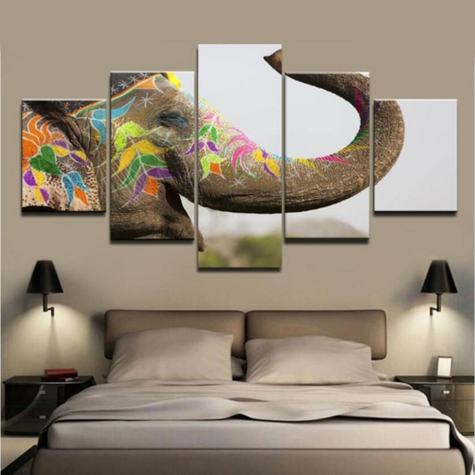 Canvas wall art animal Elephant Artwork Pictures to Photo Paintings on Canvas Wall Art Drop shipping