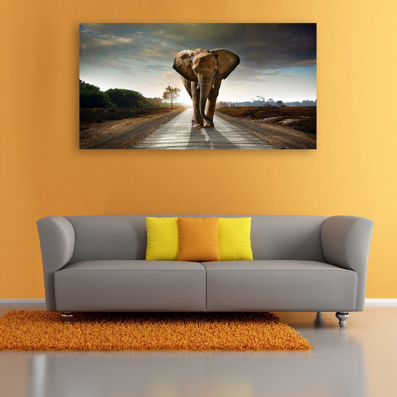Elephant Animal Paintings Canvas Wall Art Print Paintings Drop shipping