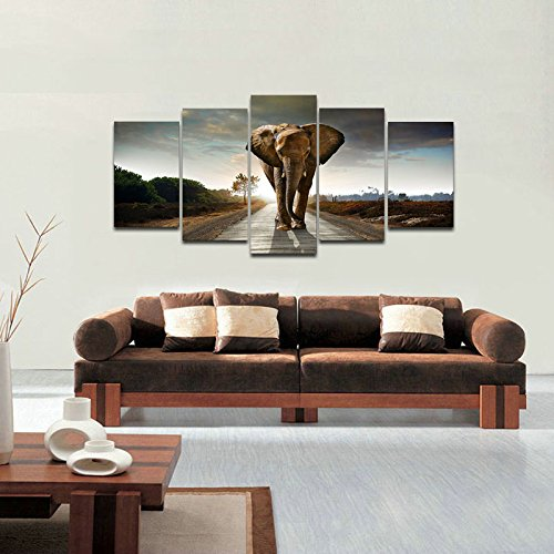 Canvas Prints Elephant Animals Landscape Photo Paintings on Canvas Wall Art Drop shipping