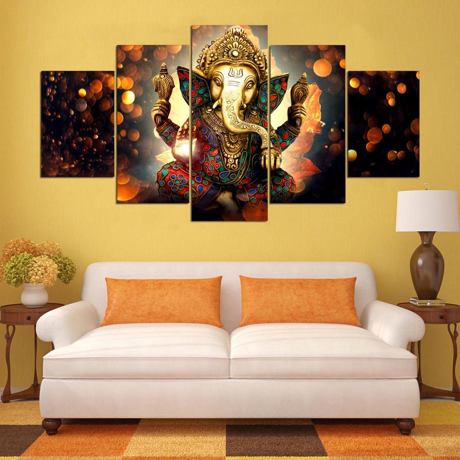 Elephant Trunk God Canvas Painting Wall Art Home Decor Drop shipping