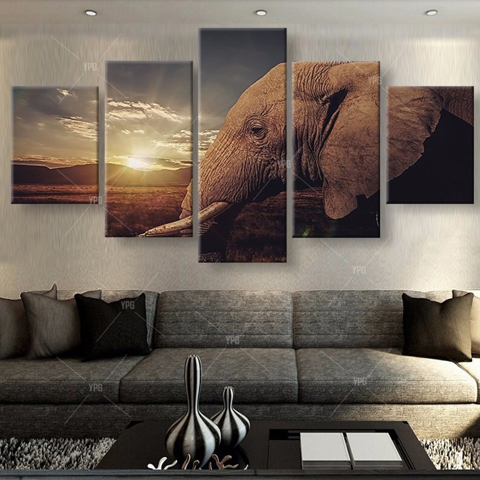 Animal Elephant Painting Canvas Wall Modular Picture Art Poster Drop shipping