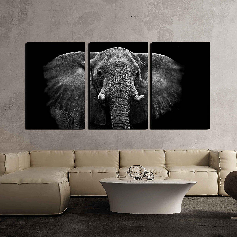 Elephants Animal Canvas Wall Print Oil Painting Custom