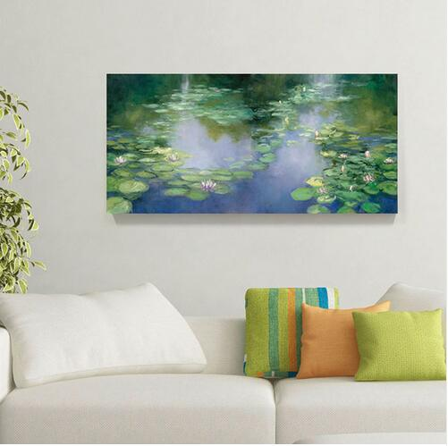 Claude Monet Water Lilies 1906 printed Canvas painting Wall art Drop shipping