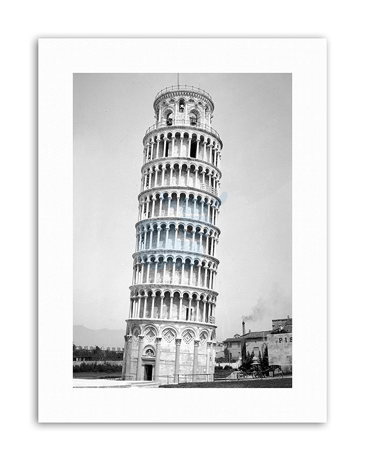 Leaning Tower Of Pisa Roman Canvas Wall Art Print For
