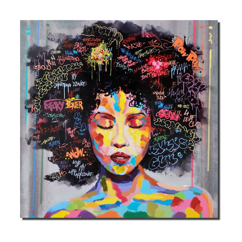 African american black art wall canvas print custom