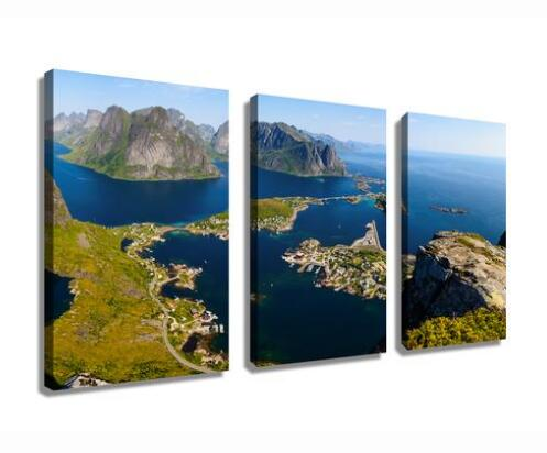 Lofoten Islands Landscape wall art painting HD print drop shipping
