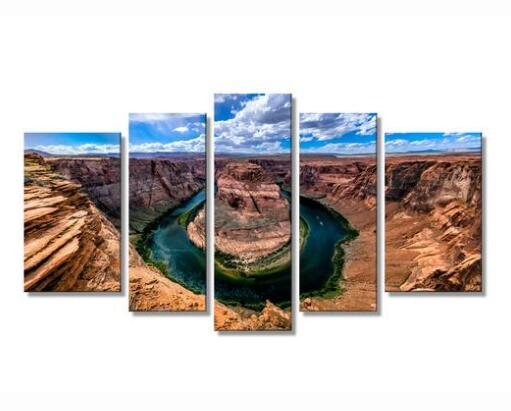 The incomparable Horseshoe Bend of the Colorado River Wall Decor Oil Painting Drop shipping