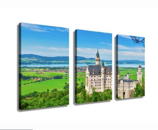 Neuschwanstein Castle Modern Canvas Painting Home decor Drop shipping