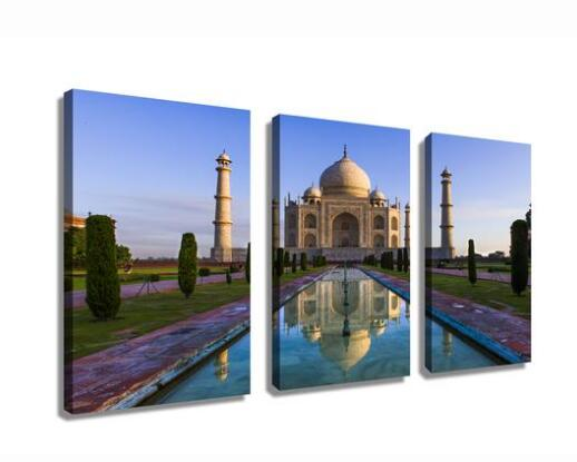 Taj Mahal Building landscape canvas prints wall art drop shipping