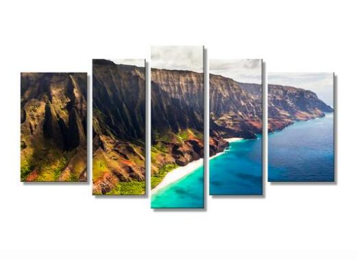 Hawaii's amazing Napali Coast canvas printing wall art drop shipping