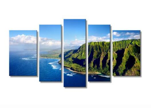 Napali Cost Drone Shot Landscape Canvas wall art drop shipping