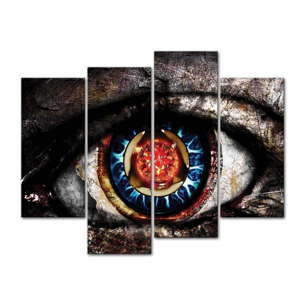 Artistic Eye Picture  Red And Blue Eyeball Pictures Abstract wall art drop shipping