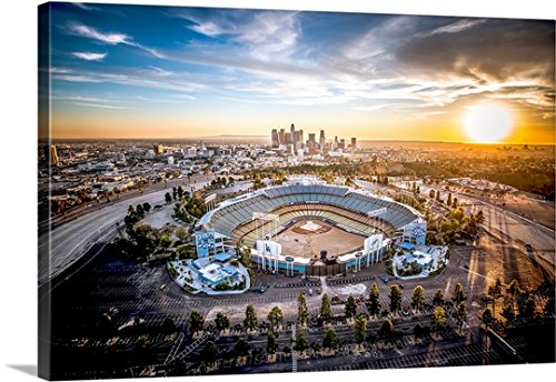 Entitled Aerial View of the Dodgers Stadium canvas wall art Drop shipping