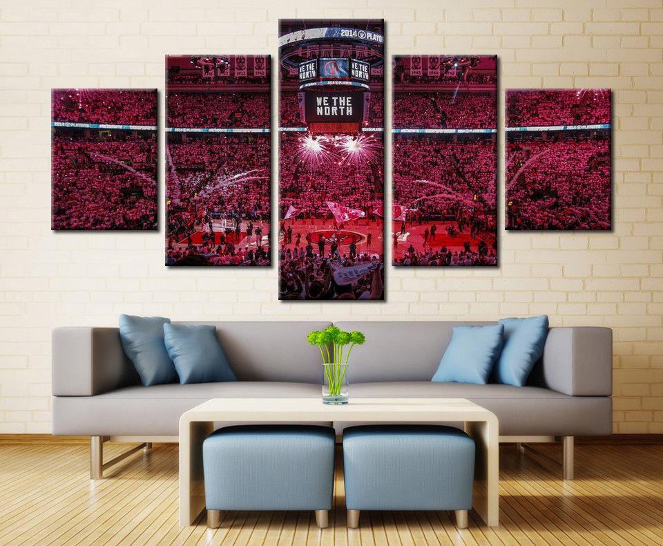 Toronto Raptors NBA Stadium Canvas Art Picture Poster Home Decor Drop shipping