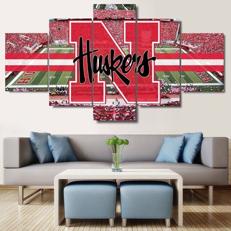 Nebraska Cornhuskers Stadium Canvas wall decor painting drop shipping