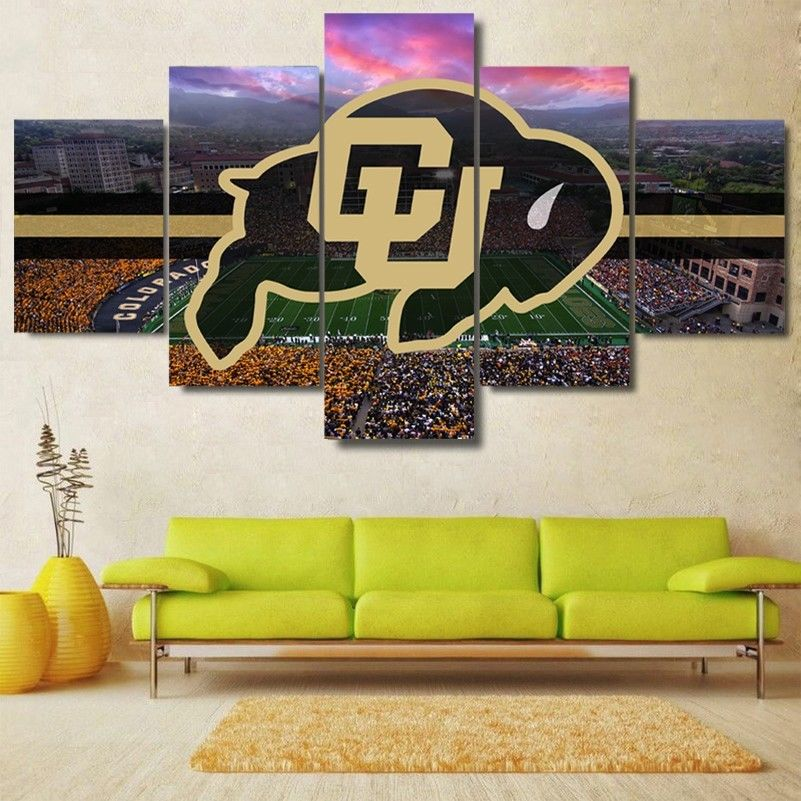 Colorado Buffalos Stadium Canvas Print Wall Art Home Drop shipping