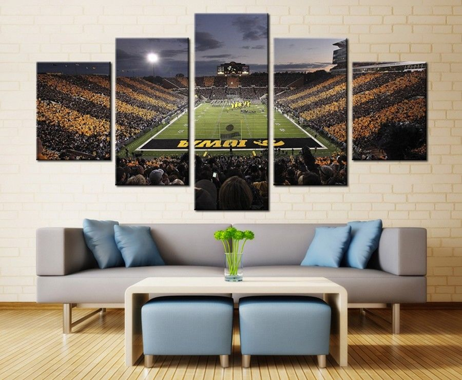 Kinnick Iowa Hawkeyes Stadium football stadium wall art canvas drop shipping