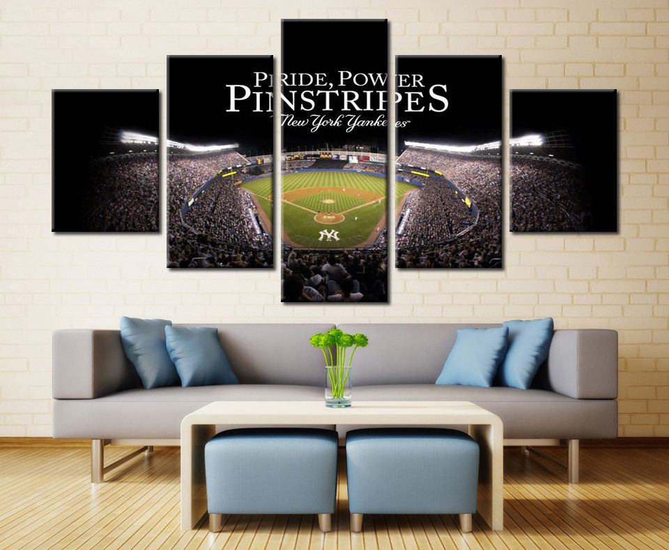 New York Yankees Match Stadium Baseball canvas print wall art drop shipping