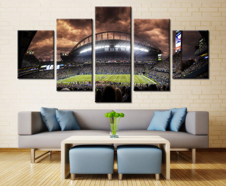 New York Yankees Night Stadium baseball wall art canvas drop shipping