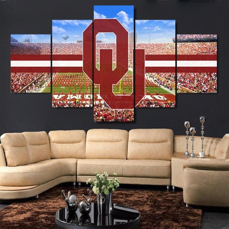Oklahoma Sooners Stadium Canvas Print Wall Art Home decor drop shipping