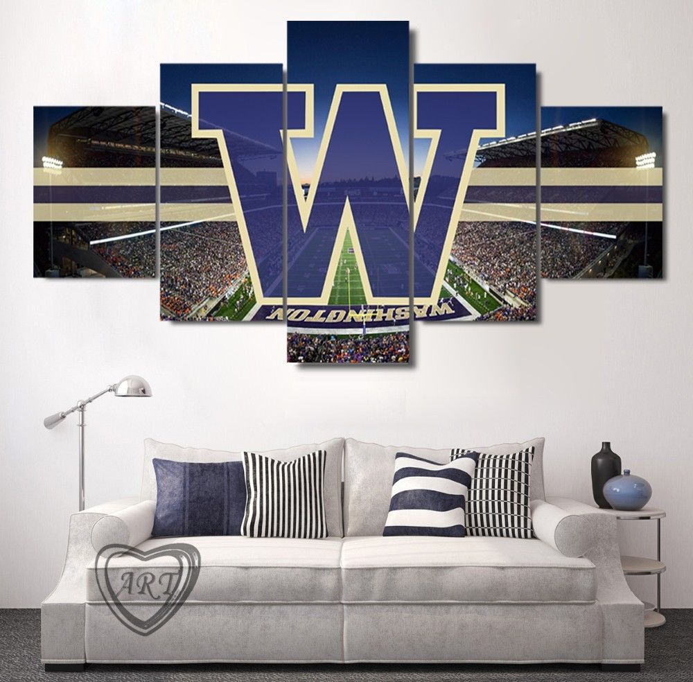 Washington Huskies Stadium Canvas Print Wall Art Home Decor Drop shipping