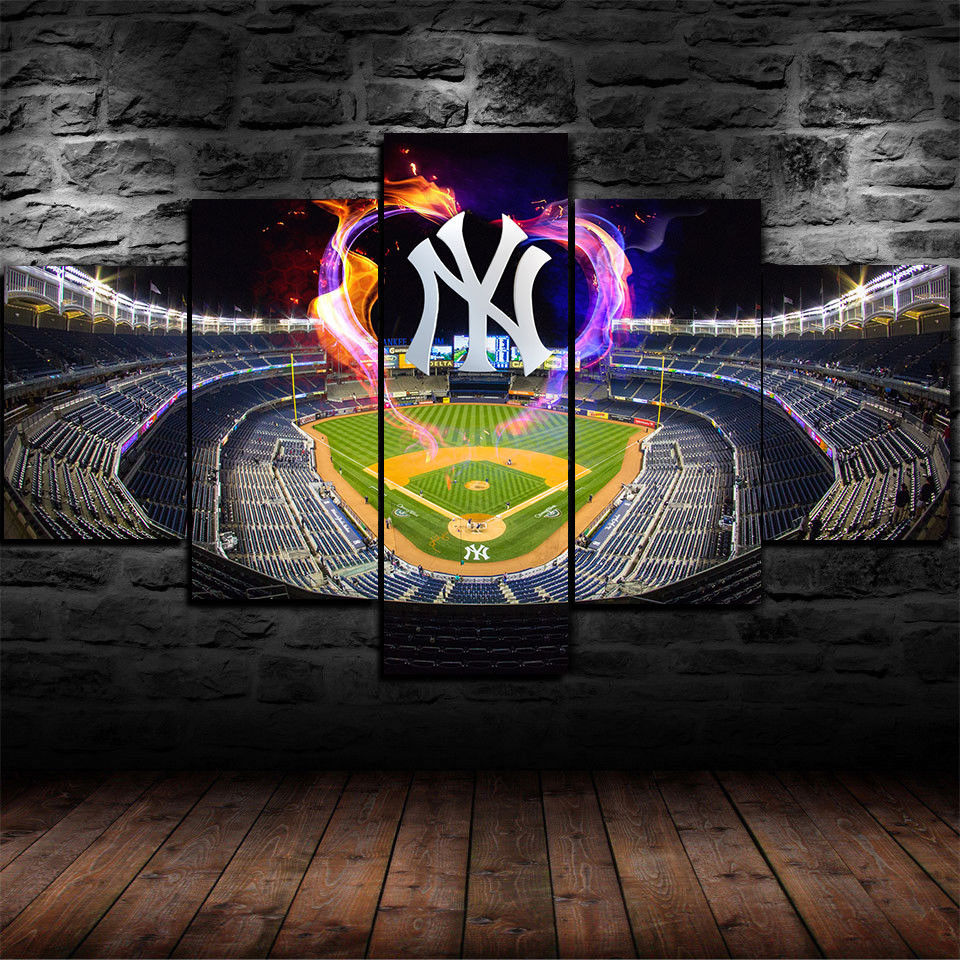 New York Yankees Stadium Wall Art Baseball Canvas Home Decor Poster Drop shipping
