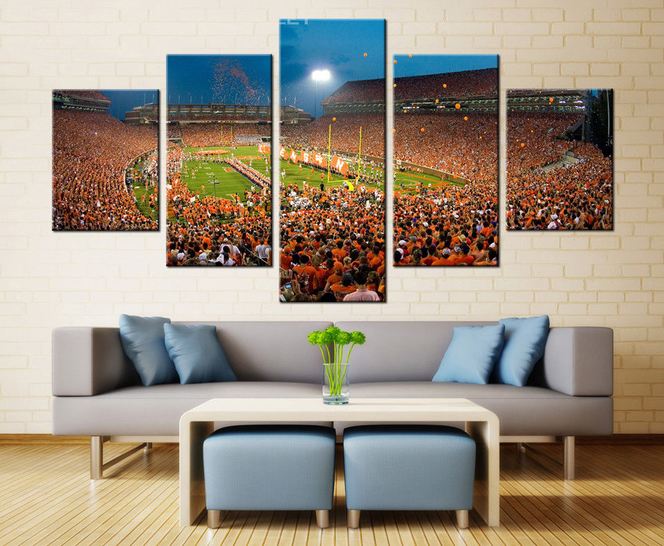 Clemson Tigers Memorial Stadium Canvas Poster Wall Art Picture Home Decor Drop shipping