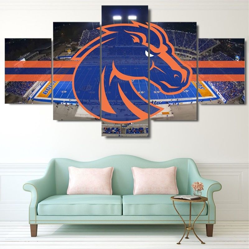 Boise State Broncos Stadium Canvas  Print Wall Art Drop shipping