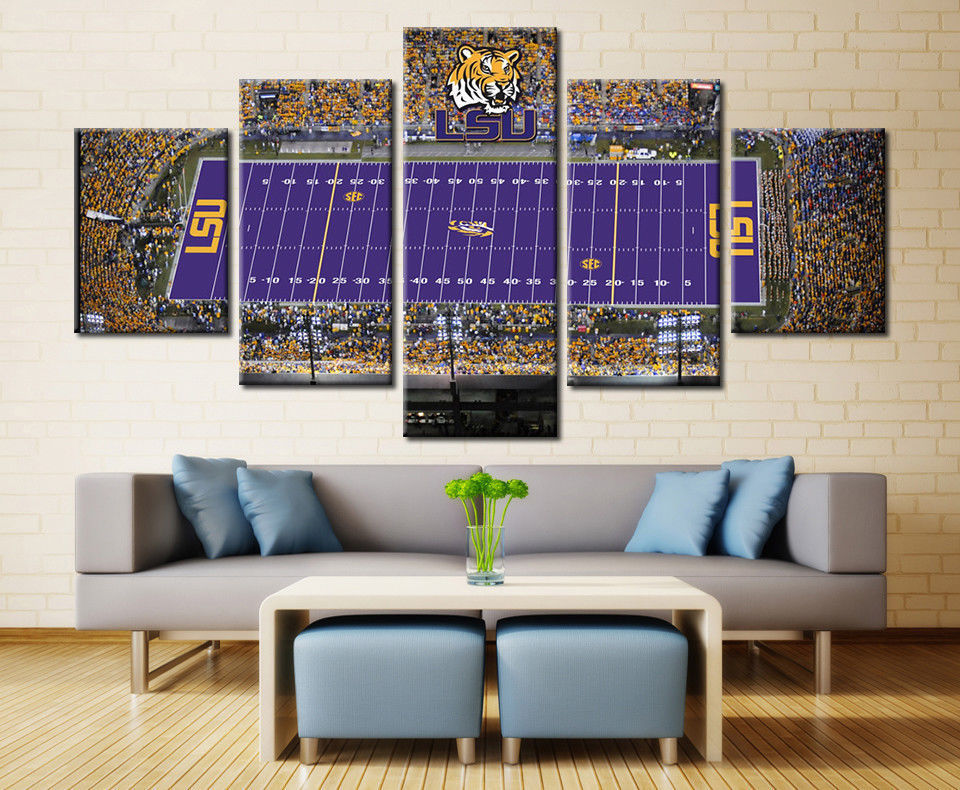LSU College Stadium Football Wall Art Canvas Drop shipping