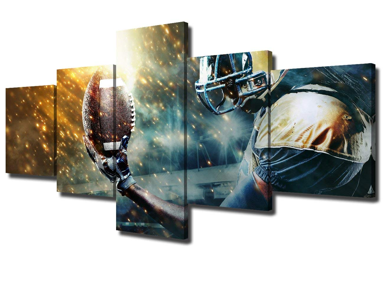 Football Sportsman Artwork Painting Modern Home Decoration Drop shipping